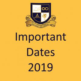 Important Dates 2019