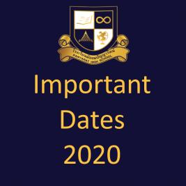 Important Dates 2020